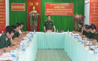 Bộ Quốc phòng kiểm tra công tác tại tỉnh Tây Ninh