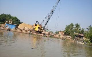 Không có việc doanh nghiệp khai thác cát trái phép ở rạch Tây Ninh