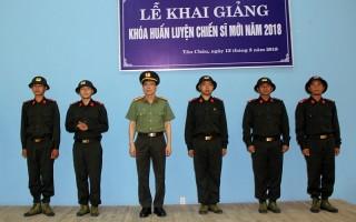 Khai giảng lớp huấn luyện chiến sĩ mới