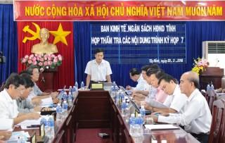 Thẩm tra các nội dung trình kỳ họp HĐND tỉnh