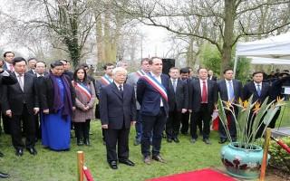 Tổng Bí thư đến Paris, bắt đầu thăm chính thức Cộng hòa Pháp