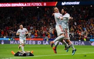 Tây Ban Nha chiến thắng hủy diệt 6-1 trước tuyển Argentina
