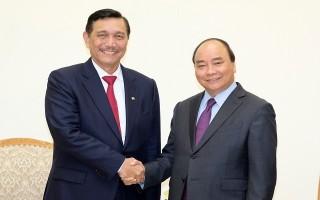 Thủ tướng tiếp đoàn các Bộ trưởng Indonesia