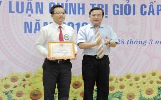 Thí sinh Trần Hải Sơn đạt giải nhất Hội thi Giảng viên lý luận chính trị giỏi cấp tỉnh