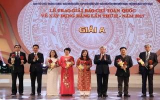 Giải Búa Liềm Vàng 2018: Khẳng định vai trò của công tác xây dựng Đảng