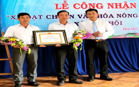 Công nhận xã Hoà Hội đạt chuẩn nông thôn mới