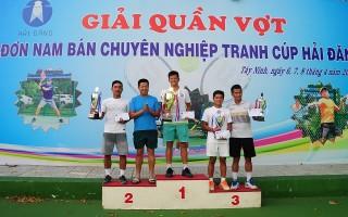 Huỳnh Minh Thịnh vô địch Giải quần vợt đơn nam bán chuyên nghiệp- Cúp Hải Đăng