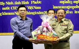 Công an Tây Ninh chúc tết cổ truyền Công an tỉnh Tbong Khmum
