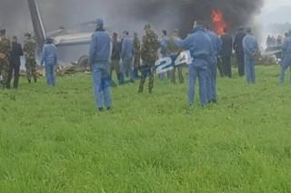 Ảnh hiện trường vụ tai nạn máy bay quân sự thảm khốc ở Algeria