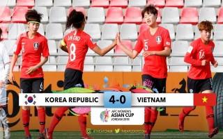 Thua Hàn Quốc 0-4, tuyển nữ Việt Nam tan giấc mơ World Cup