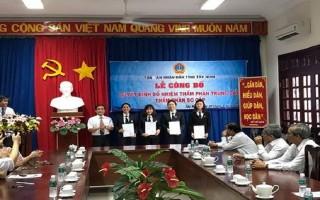 Trao quyết định bổ nhiệm thẩm phán tại tỉnh Tây Ninh