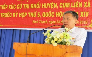ĐBQH tiếp xúc cử tri khối huyện, cụm liên xã Trảng Bàng