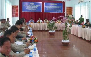 Giao ban đối ngoại với Chi cảnh sát các huyện giáp biên