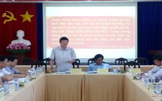 Ban Dân vận Trung ương làm việc với Sở KH&ĐT Tây Ninh
