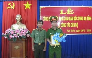 Bổ nhiệm Phó Trưởng Công an huyện Tân Biên