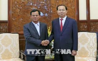 Chủ tịch nước tiếp Thứ trưởng Bộ An ninh Lào