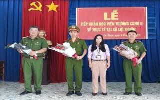 Xã Lợi Thuận: Đón tiếp học viên Cao đẳng CSND II về hoạt động thực tế