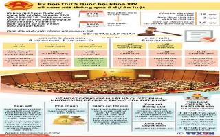 Quốc hội sẽ xem xét thông qua 8 dự án luật trong kỳ họp thứ 5
