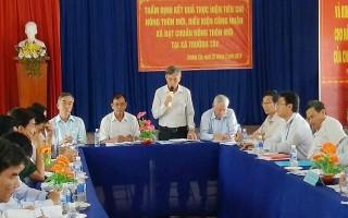 Thẩm định kết quả xây dựng nông thôn mới xã Trường Tây