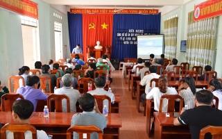 Công bố đồ án quy hoạch chi tiết 1/500 khu trung tâm xã Tân Hội