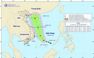 Áp thấp nhiệt đới trên biển Đông sắp mạnh lên thành bão