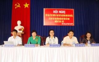 Đại biểu HĐND các cấp tiếp xúc cử tri Gò Dầu