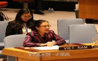 Đại sứ Nguyễn Phương Nga chào Tổng thư ký LHQ nhân kết thúc nhiệm kỳ