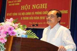 Ban Nội chính Tỉnh ủy: Hội nghị sơ kết công tác Nội chính và phòng chống tham nhũng