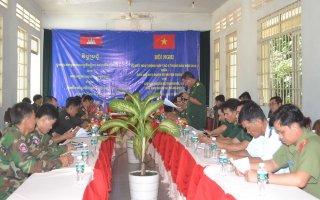 Sơ kết hoạt động hợp tác với Chi khu quân sự các huyện giáp biên
