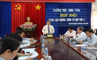 Họp báo thông báo chương trình kỳ họp thứ 9 HĐND tỉnh khóa IX