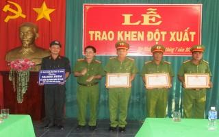 UBND tỉnh: Tặng bằng khen cho Phòng Cảnh sát cơ động CATN