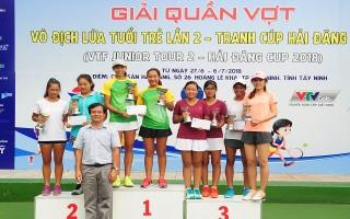 VĐV CLB Hải Đăng Tây Ninh vô địch đơn nữ U10, đơn nam U18