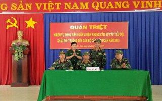 Quán triệt nhiệm vụ huấn luyện quân nhân dự bị năm 2018