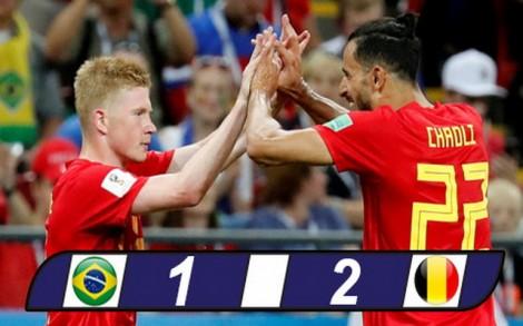 Brazil 1-2 Bỉ: Quỷ đỏ lần đầu vào bán kết sau 32 năm