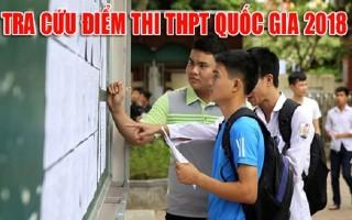 Tra cứu điểm thi THPT quốc gia 2018 trên Báo Tây Ninh điện tử