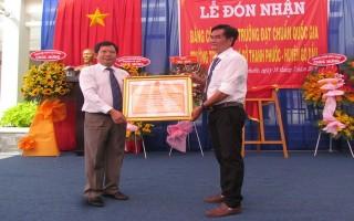 Công nhận Trường THCS Thanh Phước đạt chuẩn quốc gia