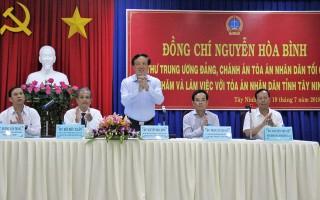 Làm việc với TAND hai cấp tỉnh Tây Ninh