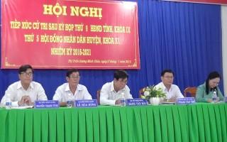 Đại biểu HĐND tỉnh tiếp xúc cử tri huyện Dương Minh Châu.