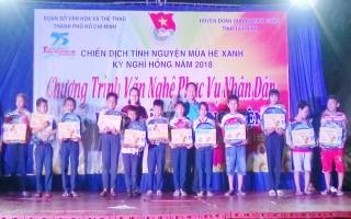 Đoàn Sở VHTT thành phố Hồ Chí Minh tổ chức đêm văn nghệ phục vụ người dân xã Phan