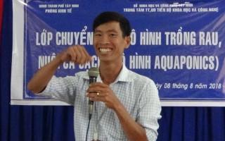 Chuyển giao mô hình Aquaponics cho nông dân TP.Tây Ninh