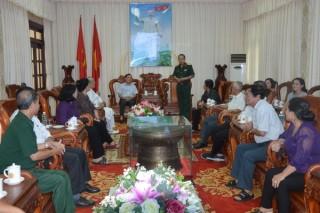 Trung tướng Phạm Văn Dỹ thăm, làm việc tại Tây Ninh