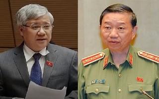 Hai Bộ trưởng Tô Lâm và Đỗ Văn Chiến trả lời chất vấn vào ngày hôm nay