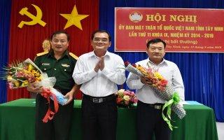 Tây Ninh: Hiệp thương bầu Chủ tịch UB.MTTQVN tỉnh khóa IX, nhiệm kỳ 2014 - 2019
