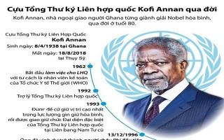 Những dấu mốc quan trọng trong cuộc đời cựu Tổng Thư ký Liên Hợp Quốc Kofi Annan