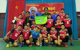 Đội bóng chuyền BĐBP Tây Ninh dẫn đầu bảng C khu vực 2