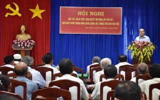 Tổ chức học tập, quán triệt Nghị quyết Trung ương 7 (khóa XII) cho đồng bào tôn giáo, dân tộc