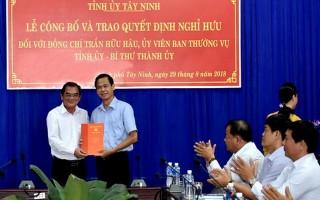 Công bố và trao quyết định nghỉ hưu trước tuổi đối với Bí thư Thành uỷ Tây Ninh