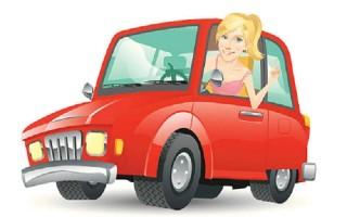 Khi phụ nữ lần đầu lái xe