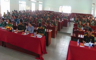 Bến Cầu: Khai mạc động viên huấn luyện quân nhân dự bị