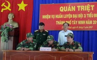 TP.Tây Ninh: quán triệt nhiệm vụ huấn luyện quân nhân dự bị
